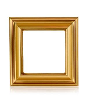 Рамка 1-пост; термопласт; золото