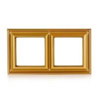 Рамка 2-поста; термопласт; золото