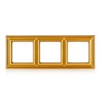Рамка 3-поста; термопласт; золото