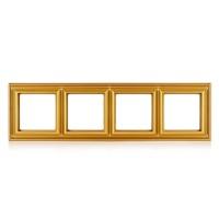 Рамка 4-поста; термопласт; золото