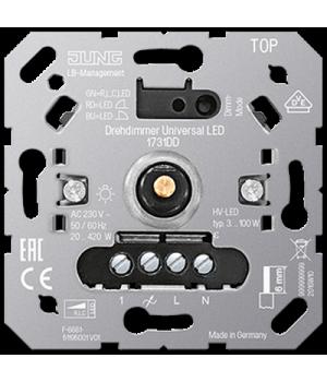 Роторный диммер универсальный LED 3-100 Ватт, поворотно-нажимной