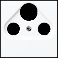 Накладка TV-SAT-FM розетки  EcoProfi, белый