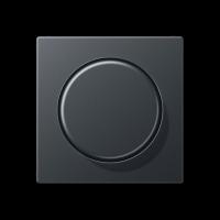 Jung ECO Profi крышка для роторного димера 5544.02 VEINS, антрацит