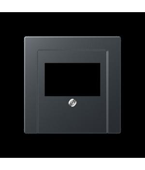 Розетка USB для зарядки двойная, антрацит