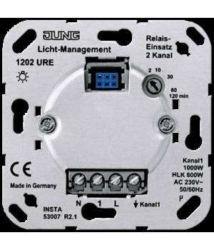 Датчик движения двухканальный 1000Вт (лн+эл.+обм.тр.+люм.), трехпроводный