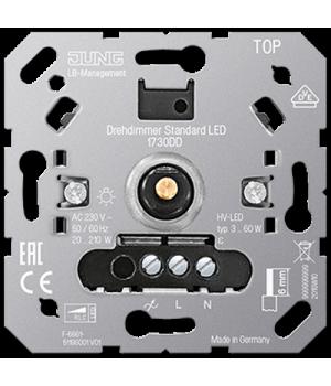 Роторный диммер универсальный LED 3-60 Ватт, поворотно-нажимной