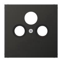 Накладка TV-SAT-FM розетки  EcoProfi, черный матовый