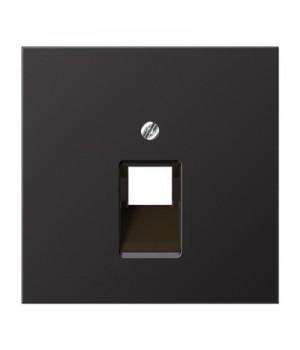 Jung Накладка на одинарные UAE-розетки; термопласт; черный матовый
