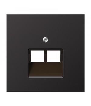 Jung Накладка на двойные UAE-розетки; термопласт; черный матовый