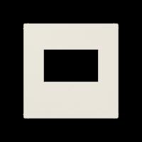 Kрышка для USB-зарядных устройств; без видимого винта; термопласт; слоновая кость