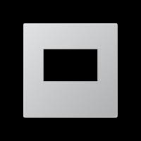 Kрышка для USB-зарядных устройств; без видимого винта; термопласт; алюминий