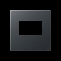 Kрышка для USB-зарядный устройств; без видимого винта; термопласт; матовый антрацит