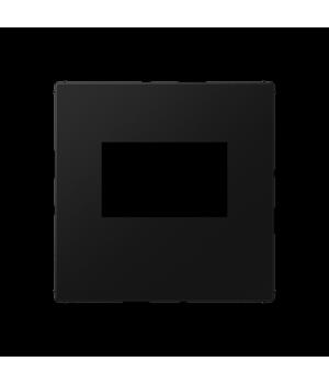Kрышка для USB-зарядных устройств; без видимого винта; термопласт; черный матовый