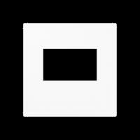 Kрышка для USB-зарядных устройств; без видимого винта; термопласт; белый