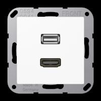 Розетка мультимедийная HDMI / USB 2.0
