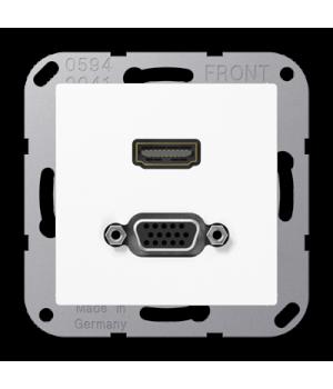 Розетка мультимедийная HDMI / VGA