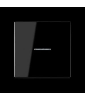 Кнопка 1-но клавишная 1но с подсветкой, черный