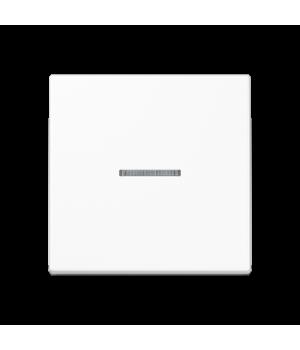 Кнопка 1-но клавишная 1но с подсветкой, белый