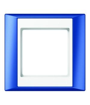 Рамка на 1 пост, синий/белый